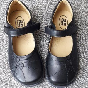 Girls Black Leather Mary Janes School Uniform Shoe